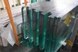 8m m, vidrio Tempered 12m m llano de la partición de cristal de 10m m con los orificios Drilling