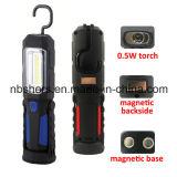 Luz de trabajo recargable 3W COB LED Base Magnética, Parte trasera