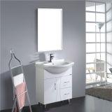 Großhandelsfußboden, der Belüftung-Badezimmer-Eitelkeit mit Spiegel steht
