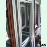 El polvo cubrió la ventana interna de la inclinación y de la vuelta del perfil de aluminio, ventana de aluminio, ventana K04005