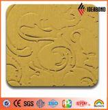 Piatto di alluminio impresso metallico dell'oro di prezzi di fabbrica (identificazione 012B)