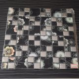 Azulejo de mosaico del vidrio cristalino de la mezcla del metal de la casilla negra de la buena calidad