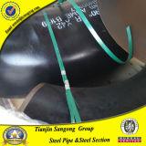 90 cotovelo de Asme A234 Wpb da pintura do preto do aço de carbono do grau (SCH5--SCH160)