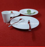 일상 생활 돋을새김된 디자인 \ 백색 격판덮개를 위한 싼 세라믹 저녁식사 세트