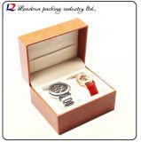 Cadre de mémoire en cuir de luxe d'étalage d'emballage de montre (Sy0150)