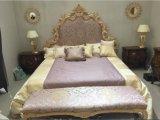 Mobilia cinque stelle antica di lusso della stanza dell'hotel di stile del Medio Oriente/della camera da letto stile europeo/classico Kingsize (NPHB-1204)