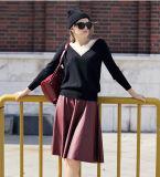 V首(13brdw065-2)が付いている女性のカシミヤ織のセーター