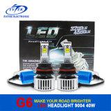 40W 4500lm 6000k 9004/9007 olá!/farol do diodo emissor de luz carro de Lo para a luz de névoa, auto farol