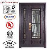Дверь обеспеченностью высокого качества стальная для двери стальной двери виллы/сада стальной стеклянной