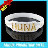 Qualitäts-spezieller Debossed Farbe gefüllt Silikon-Armband (TH-08853)