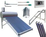 Colector de energía solar del calentador de agua del tubo de vacío de Unpressure de la presión inferior, colector solar no presurizado del calentador de agua 200L