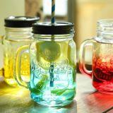 550ml de Container van het Glas van het handvat, de Fles van het Glas van het Water, de Container van het Sap