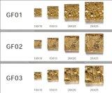 vraies tuiles de mosaïque de feuille d'or 24k
