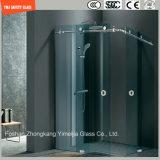 Tempered стекло регулируемое 6-12 сползая просто комнату ливня рамки нержавеющей стали, приложение ливня, кабину ливня, ванную комнату, экран ливня