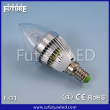 未来E14 3W Round LED Candle Flame Lamp