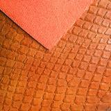 靴のためのワニPUの革、袋(HW-1661)