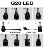 차 12V & 24V 자동 H1 H4 H7 H11 9005 9006를 위한 Matec 100% 방수 LED 맨 위 빛