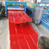 Placa de acero prepintada hoja acanalada de acero del material para techos del metal