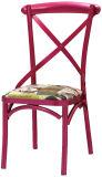 Restaurante del metal blanco que cena la silla con la tapicería (FOH-BCC27)