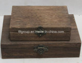 Коробка почетного высокого качества шикарная лоснистая деревянная