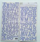 Alpha Chipboard помечает буквами коробку Gris En стикера