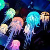 Illuminazione gonfiabile d'attaccatura variopinta bianca delle meduse di Finego LED per la decorazione della fase di evento di Pary