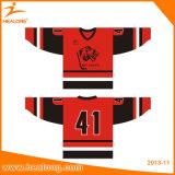 Jersey sublimés par teinture de hockey sur glace d'impression avec la qualité
