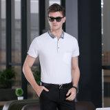 Breathable 소매가 현대 보통 남자에 의하여 체중을 줄인다 적당한 최신 판매 우연한 니트 폴로 셔츠를 누전한다