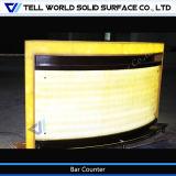 Iluminación caliente de la venta LED dentro del contador comercial de la barra para la venta