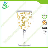 280 ml Goblet Shaped Acrylic Tumbler con Straw