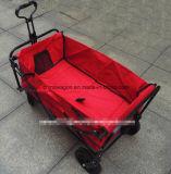 Faltender Lastwagen mit rotem Gewebe und PU-Rad