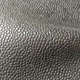 Material de couro gravado teste padrão do PVC para a bagagem