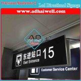 Luchthaven die LEIDENE Signage van de Richting de Lichte Vertoning van de Doos hangen