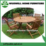 Conjunto sólido de los muebles del patio de la madera dura
