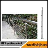 Escadas exteriores de aço inoxidável para trilhos