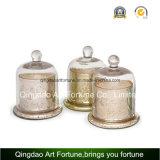 Vela de cristal perfumada del tarro con el fabricante de la tapa del vidrio plano