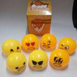 Juguetes blandos de Gudetama de Gudetama de las bolas de los huevos perezosos perezosos de goma al por mayor del amarillo (MQ-GE05)