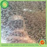 Feuille en acier inoxydable décorative gravante en refief de la meilleure qualité de 304 textures