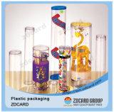 Imballaggio libero di plastica libero del cilindro della casella di figura rotonda
