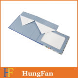 Rectángulo de papel del plegamiento plegable del regalo de la cartulina con la ventana del PVC