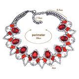 Ожерелье Chocker полного ожерелья краткости диаманта цветастое роскошное полое