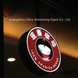 불규칙한 Shape Durable Plastic Sign 3D LED Light Box