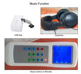 De elektrische Automatische Volledige Lijst van de Massage van de Jade van de Muziek van het geen-Hiaat van het Lichaam Thermische