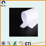 Hoja dura del PVC del blanco de la película rígida brillante brillante del PVC