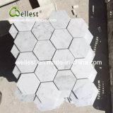 Azulejo blanco de la pared del mosaico de Cararra Haxegon