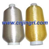 Silver pur Metallic Yarn avec Cotton Core