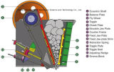 Triturador de maxila da rocha do PE 600*900 para o esmagamento de pedra