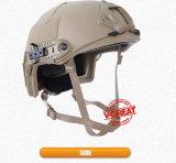 カーキ色カラーの速いヘルメットか防弾ヘルメット