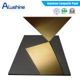 Folha composta de alumínio do ACP do painel do espelho dourado decorativo (largura de 1220mm)