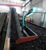 タイヤのリサイクルの工場設備またはスクラップのタイヤのパン粉の加工ラインかプラントを作るゴム粉